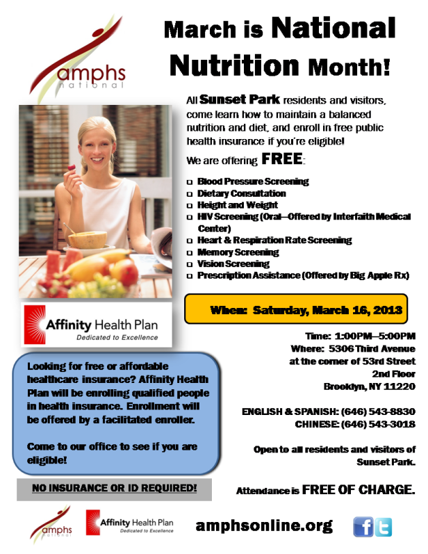 March 2013 - National Nutrition Month