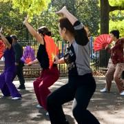 Exercising in Sunset Park