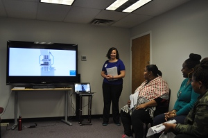 Workshop on Breast Self-Exams and Mammograms at Turning Point Staff Health Day with Alice Bonner, RN