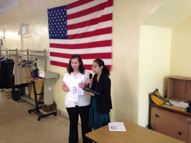 Alice Bonner, RN, NP, and Mon Yuck Yu led the talk for AMPHS.