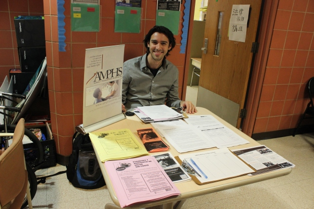 Volunteer Nick manned the AMPHS table